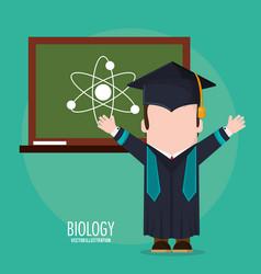 Graduate student biology board class vector