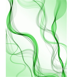 green abstract wave background vector image
