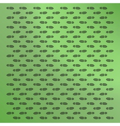 green background with footprints vector image