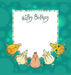 greeting children card with wishes for a vector image