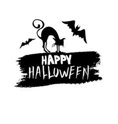 Happy halloween hanwritten vector