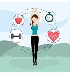 Health fitness cartoon vector