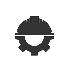 helmet with gear vector image