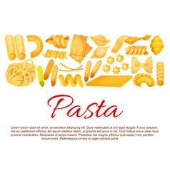 Italian pasta sorts poster vector