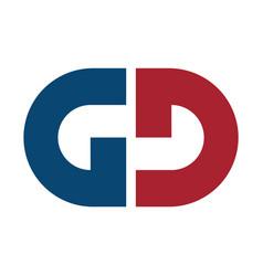 letter gd logo design vector image