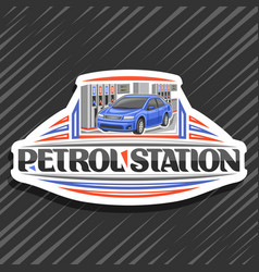 logo for petrol station vector image