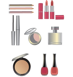Make up icons set vector image