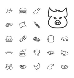 Meat icons vector
