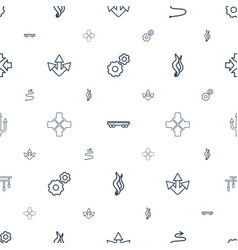 Motion icons pattern seamless white background vector