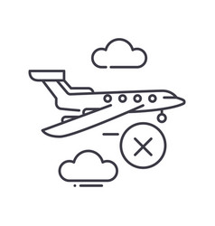 Not travel time icon linear isolated vector