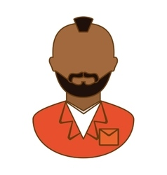 Orange arrested man icon image vector