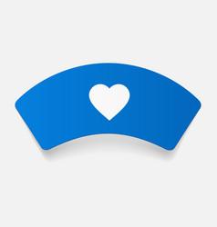 Paper sticker nurse cap vector