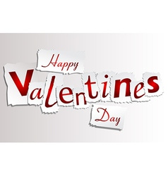 Paper Valentines Day vector image