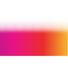 Pink and orange dotted halftone background vector