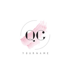 qg q g watercolor letter logo design with vector image