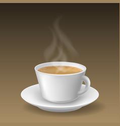 Realistic cappuccino beverage cup vector