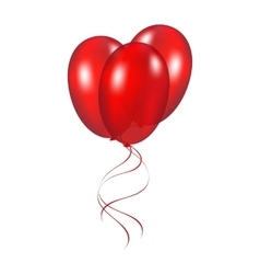 Red festive balloons vector