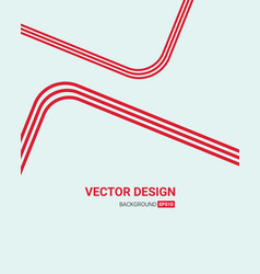 red line art color creative letterhead design vector image