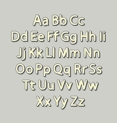 Retro Lightbulb Alphabet Glamorous showtime vector