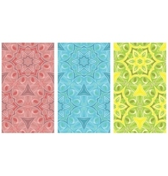Seamless pattern set of color ornaments vector image