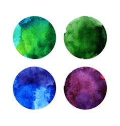 set colorful watercolor circles vector image