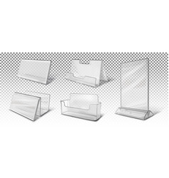 Set different business card holders vector