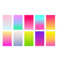 set gradient backgrounds duotone color palette vector image