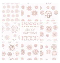 Set of geometrical patterns vector image