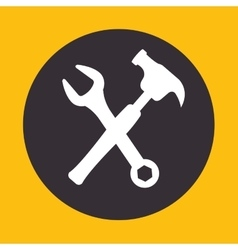 Site under construction tools vector