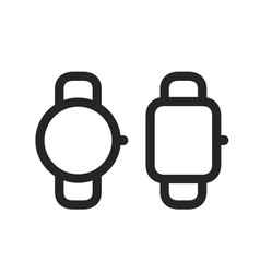 smart watches simple line style icons vector image