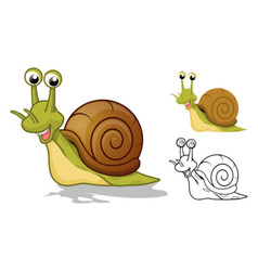 Snail Cartoon Character vector image