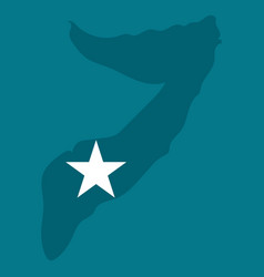 Somalia map with waving flag country vector