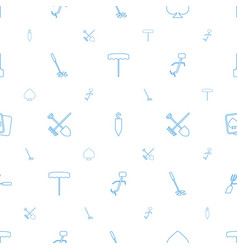 spade icons pattern seamless white background vector image