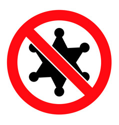 Stop sheriff star - icon vector