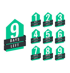 Stylish number of days left of sale and promotion vector