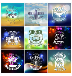summer designs on tropical beach night life vector image