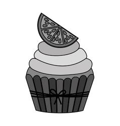 Sweet cupcake icon vector