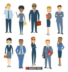 Team Of Business People vector