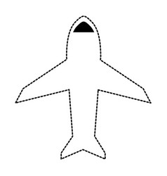 uncolored airplane sticker vector image