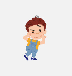White boy in jeans something sick and dizzy vector