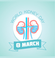 world kidney day 8 march vector image