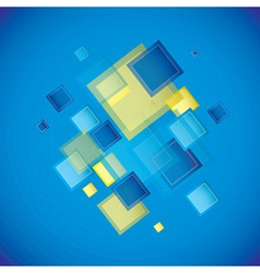 Blue square vector image vector image