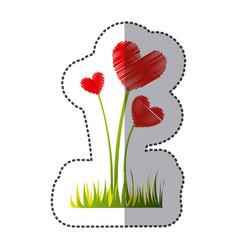 color plant heart icon vector image