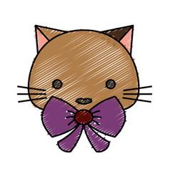 Cute cat icon vector
