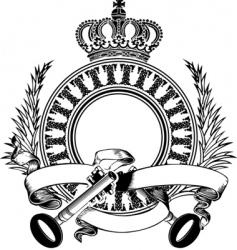 heraldry composition vector image vector image