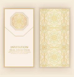 invitation cards with ethnic vector image