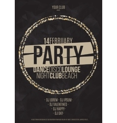 Lounge bar party poster background with vector image vector image