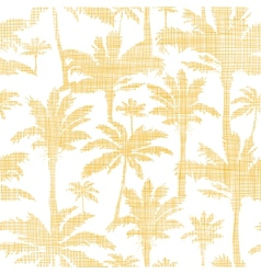 palm trees golden textile seamless pattern vector image
