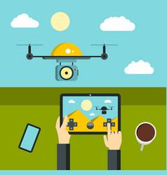radio-controlled drones concept vector image