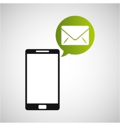 smartphone and envelope email application vector image vector image